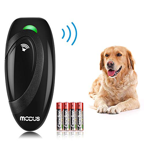 Modus Ultrasonic Bark Control Device, Anti Barking DeviceDog Training Aid 2 in 1 Control Range of 16.4 Ft W/Anti-Static Wrist Strap LED Indicate 100% Safe Walk a Dog Outdoor 1