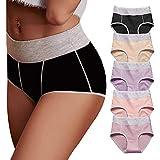 OPIBOO Women's Cotton Underwear,Soft Underwear Women Briefs,Comfort Breathable Underpants 5 Pack
