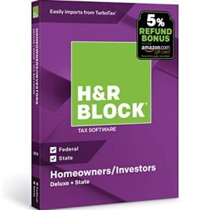 [OLD VERSION] H&R Block Tax Software Deluxe + State 2018 [PC/Mac Disc] 2