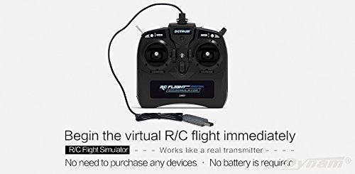 Detrum Dynam 2.4G 8CH 2.4GHz 8-Channel FMS USB RC Flight Simulator DTM-U001