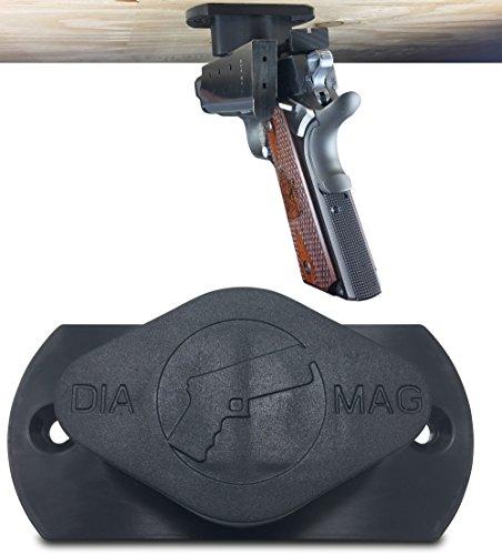 Gun Magnet 35 lb Rated | Adhesive Backing | Car Holster | Bedside Holster | Steering Wheel Gun Holster | Under The Desk Pistol Holster | Gun Holsters For Cars | Vehicle Gun Mount Pistol Holster In Car