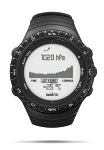 SUUNTO Core Regular Black Digital Display Quartz Watch, Black Elastomer Band, Round 49.1mm Case
