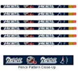 WinCraft NFL New England Patriots 15545014 Pencil (6 Pack)
