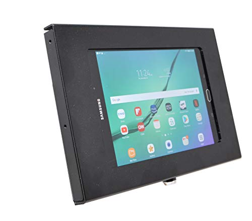 TABcare-Locking-Anti-Theft-Metal-Case-for-Samsung-Galaxy-TAB-8-84-Tablet-for-Kiosk-POS-Store-Show-Display-Time-Clock-TAB-S2-80-Black