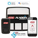 Genie Aladdin Connect – WiFi Smart Garage Door Opener – Monitor, Open and Close from Anywhere with Smartphone (iPhone or Android), Compatible with Amazon Alexa and Google Assistant (Item Ships in Box)