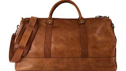 46b9776485 Vintage Full Grain Leather Duffle Bag   Weekend Carryall by Jackson Wayne