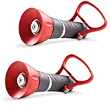 Nelson  855032-1001 High-Pressure PRO Fireman's Spray Nozzle with Large On/Off, Red/Black