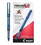 Pilot Precise V5 Stick Rolling Ball Pens Precision Point Ink .5mm, Blue, Patented Precision Point Technology, Smooth Skip-Free Writing, Visible Ink Supply