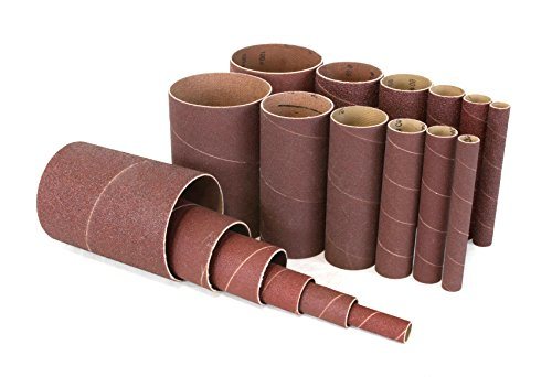 WEN 6510SPC Assorted Grits Spindle Sanding Sleeves (18 Pack)