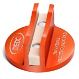 DEDC Universal Aluminum Grooved Magnetic Jack Pad Jacking Puck Pinch Weld Frame Rail Adapter (Orange)