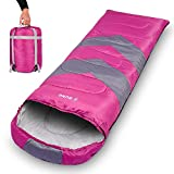Ebung Sleeping Bag for Cold Weather - Envelope Portable Ideal for Winter, Summer, Spring, Fall - Outdoor Camping, Hiking, Traveling - Adults, Kids, Boys, Girls - Lightweight, Waterproof, Washable