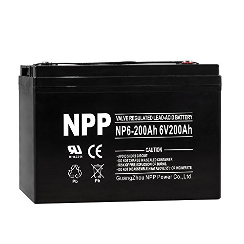 NPP 6V 200 Amp NP6 200Ah AGM Deep Cycle Camper Golf Cart RV Boat Solar Wind  Battery