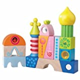 HABA Cordoba Building Blocks - 16 Piece Play Set with Unique Colorful Shapes (Made in Germany)