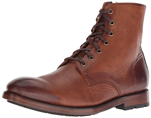 FRYE Men's Bowery LACE UP Combat Boot, Cognac, 8 M M US