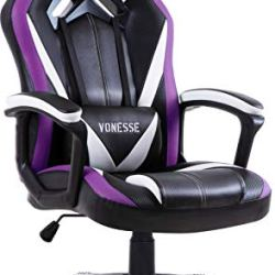 Purple Gaming Chair, Gamer Chair for Adults, Carbon Fiber Computer Chair with Massage, High Back Desk Chair for Gaming…