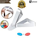 Tablecloth Clip, Table Clips Made of Stainless Steel, Waterproof and Rustproof Table Cloth Holders, Table Cover Clips Suitable for Family, Picnic, Restaurant, etc, Table Cover Holder (12 pieces)