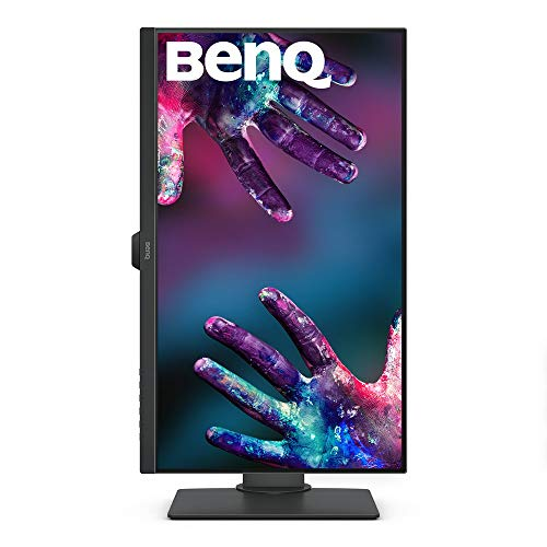 410sVtpmffL BenQ 27-inch DesignVue Designer IPS Monitor, 4K UHD 2160p, 100% sRGB, HDR10, AQCOLOR Technology, Darkroom, Animation, CAD/CAM Mode, Dualview Function, KVM Switch, Built-in Speakers - PD2700U (Gray)