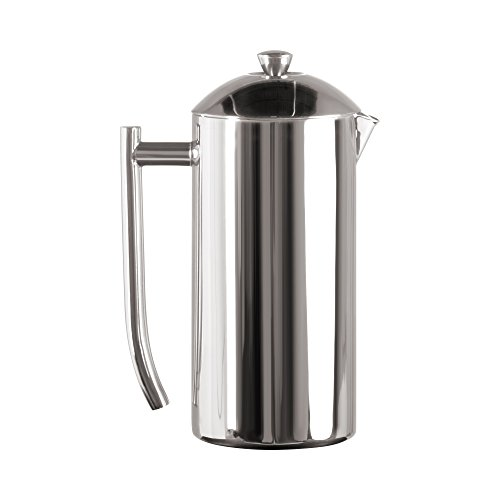 Frieling French Press Coffee Maker with Patented Dual Screen in Frustration Free Packaging, Zero Sediment, 18/10 Stainless Steel, No-drip Spout, Retains Heat 4x Longer Than Glass, Polished, 36-Ounce ...