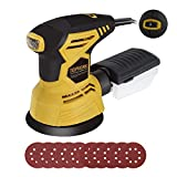 TOPVORK Random Orbit Sander, 2.5A 5-inch sander with 10Pcs Sandpapers, 12000 RPM, 6 Variable Speed, Dust Collector, Ideal for Sanding, Finishing, Polishing Wood
