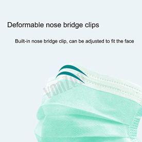 Desidiya-3-Ply-Meltblown-Disposable-Surgical-Face-Mask-With-Nosepin-Green