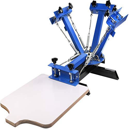 VEVOR-Screen-Printing-Machine-4-Color-1-Station-Screen-Printing-Press-217X-177-Inch-Silk-Screen-Printing-for-T-Shirt-DIY-Printing-Removable-Pallet