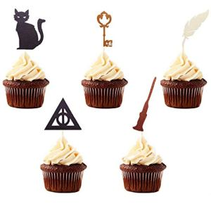 Set of 15 JeVenis Wizard Inspired Cupcake Topper Wizard Cake Topper Wizard Theme Cupcake Toppers for Wizard Party Decorations Wizard Birthday Party Supplies 4110Ajg9BxL