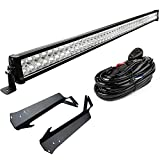 LED Light Bar YITAMOTOR 52 Inch Light Bars with Mounting Brackets compatible for Jeep Wrangler TJ with Wiring Harness, Waterproof Offroad Lights for Jeep 3 Year Warranty