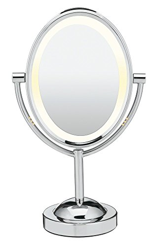 Conair Double-Sided Lighted Makeup Mirror - Lighted Vanity Mirror; 1x/7x magnification;...