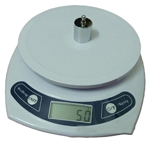 YUNY Digital for Home Tare Function Highly Accurate Weight Measurements Battery Include Baking Display 3kg/0.1g Max Weight Small Cooking Scale White