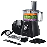 Food Processor, TOPELEK Food Processor Blender and Chopper, 1.2L Large Capacity, 2 Speed Options and Pulse Function, Chop, Puree, Shred and Slice for Meat, Vegetables, Fruits and Nuts, 500W, Black