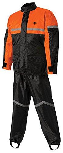 Nelson-Rigg SR-6000 StormRider 2-Piece Rain Suit (Black/Orange, XX-Large) 406-076