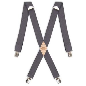 Dickies Men's 1-1/4 Solid Straight Clip Suspender