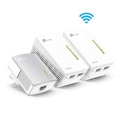 TP-Link TL-WPA4220T KIT 2-Port Powerline Adapter WiFi Starter Kit, Range Extender, Broadband/WiFi Extender, WiFi Booster/Hotspot, No Configuration Required, UK Plug