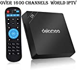 Goldenbox 2019 New International IPTV Box Receiver with Lifetime Subscription for 1500+ Global Live Channels Including North American European Asian Arabic South American Programs