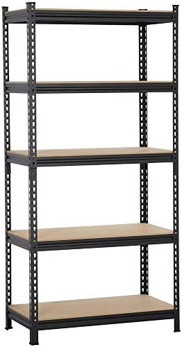 "Topeakmart 5-Tier Heavy Duty Shelving Storage Unit Adjustable Garage Shelving, Multipurpose Storage Racks Organiser, 36""W x 18""D x 73""H, Black"