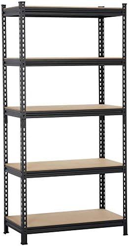 "Topeakmart 5-Tier Heavy Duty Shelving Storage Unit Adjustable Garage Shelving, Multipurpose Storage Racks Organiser, 36""W x 18""D x 73""H, Black"