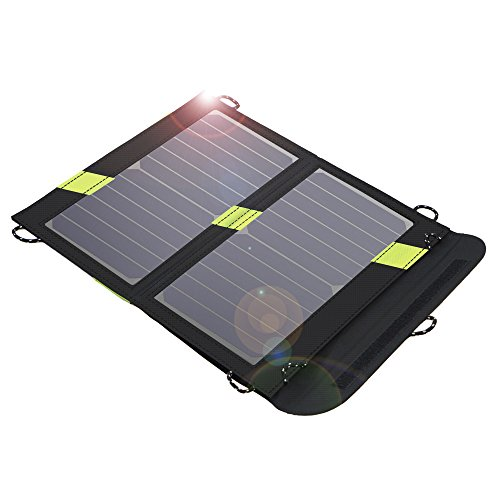 Solar Charger, X-DRAGON 14W SunPower Solar Panel Water Resistant with SolarIQ Technology& Dual USB Port for iPhone, ipad mini, iPod, Samsung, Android Smartphones and More Other Devices