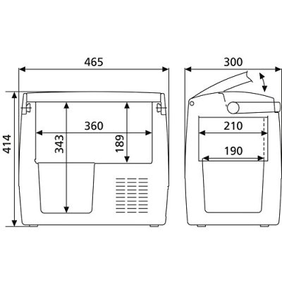 Dometic-CoolFreeze-CDF-18-tragbare-elektrische-Kompressor-KhlboxGefrierbox-18-Liter-1224-V-fr-Auto-Lkw-oder-Boot-mit-Batteriewchter