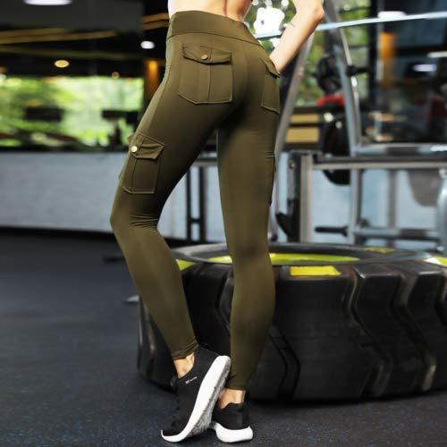 Eco friendly bamboo pockets high waist yoga pants
