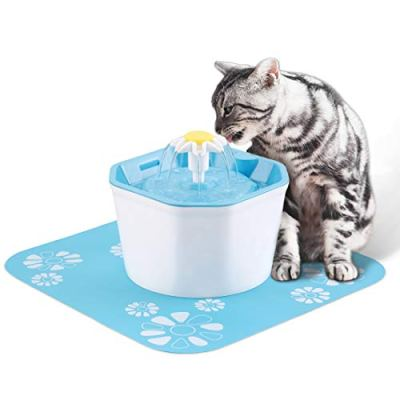 PingPIN Cat Water Fountain, Flower Drinking Fountain Pet Water...