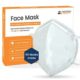Arcatron 95% Filtration Face Mask – 5 Pack – 5 Layers Dust Protection Against PM2.5 Dust, Smoke and Fog-Proof, Designed…