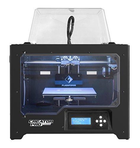 FlashForge 3D Printer Creator Pro, Metal Frame Structure, Acrylic...