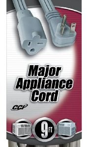 Coleman Cable 03537 12/3 9-Foot Appliance/ Air Conditioning Cord, Beige