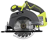 Ryobi One P505 18V Lithium Ion Cordless 5 1/2in 4,700 RPM Circular Saw (Battery Not Included, Power Tool Only), Green (Renewed)