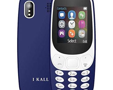 I KALL K3310 Gold Series Keyboard Mobile (1.8 Inch, Dual Sim, Vibration, King Voice, 1000 mAh Battery) (Dark Blue)