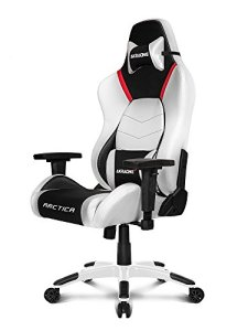 AKRacing Masters Series Premium Gaming Chair with High Backrest, Recliner, Swivel, Tilt, 4D Armrests, Rocker and Seat Height Adjustment Mechanisms with 5/10 warranty - Arctica