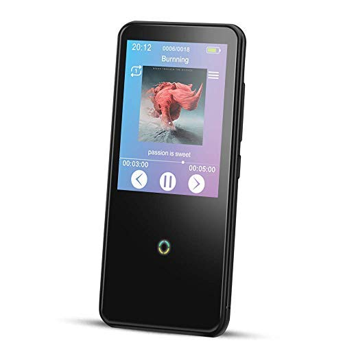 AGPTEK 16GB MP3 Player with Touch Screen, Bluetooth 4.0 Lossless Music Player with Built-in Speaker, FM Radio, Voice Recorder, Video Player, E-Book Reader, Support 48 Hours Playback, Black(C10)