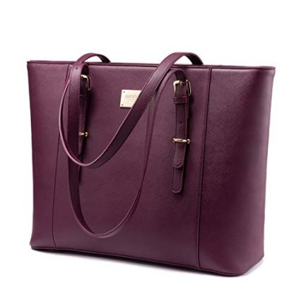 Laptop-Bag-for-Women-Large-Computer-Bags-for-Women-Laptop-Purse-Fit-Up-to-156-Inch-Laptop-Briefcase-for-Women-with-Padded-Compartment-Professional-Laptop-Tote-Work-Bags-Deep-Plum