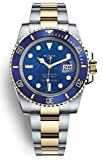 WLISTH Real N Jack wu Best Latest Version 9 Automatic Watch 904L Steel Gold Two Tone Blue