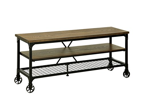 HOMES: Inside + Out ioHOMES Engels Industrial 54' TV Stand, Medium Oak